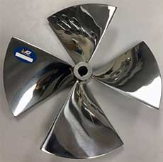 WESMAR Stainless Steel Bow Thruster Propeller LH
